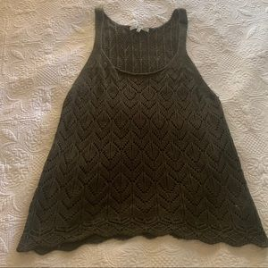Green Knitted Large Tank Top